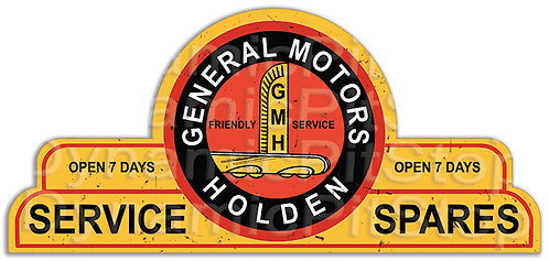 65x30cm General Motors Holden Shield Tin Sign