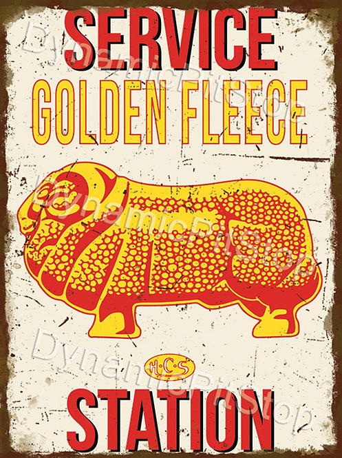 30x40cm Golden Fleece Service Station Rustic Decal or Tin Sign
