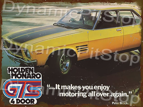40x30cm Holden HQ Monaro GTS Rustic Decal or Tin Sign