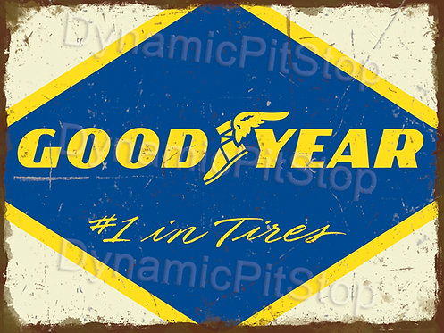 40x30cm Good Year Tires Rustic Decal or Tin Sign