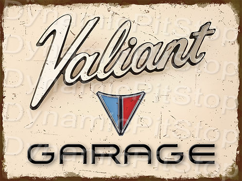 40x30cm Valiant Garage Rustic Decal or Tin Sign