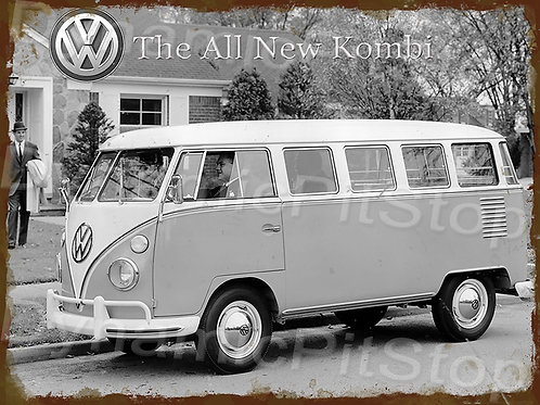 40x30cm All New Kombi Rustic Decal or Tin Sign