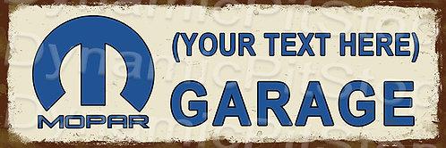 60x20cm Mopar Garage Workshop Personalised / Custom Decal or Tin Sign