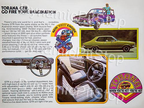40x30cm Holden LI Torana Decal or Tin Sign