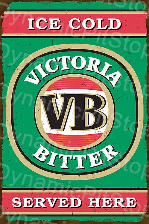 HUGE 80x120cm Victoria Bitter Rustic Sign