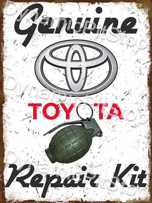 30x40cm Toyota Repair Kit Funny Rustic Decal or Tin Sign