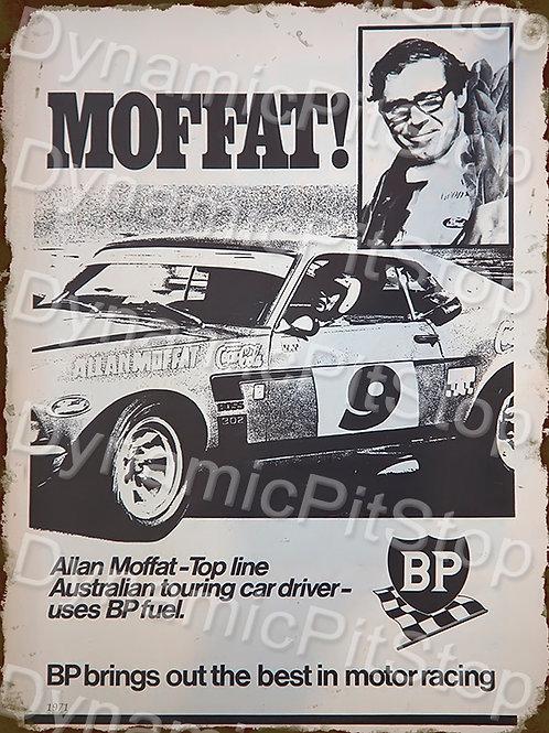 30x40cm BP Allan Moffat Decal or Tin Sign