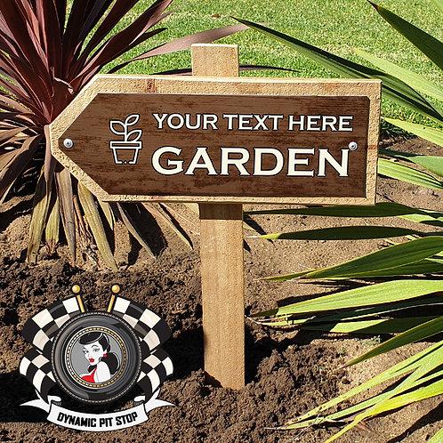 Custom Garden Sign - Arrow