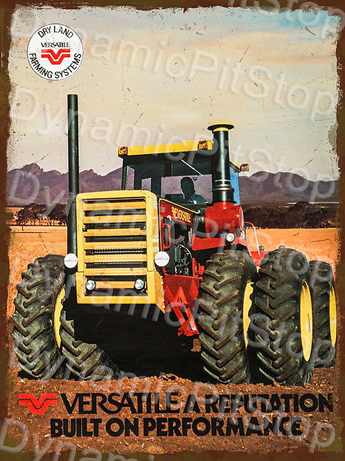 30x40cm Versatile Dry Land Tractor Rustic Decal or Tin Sign