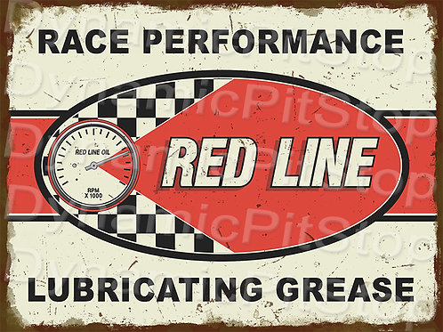 40x30cm Red Line Grease Rustic Decal or Tin Sign