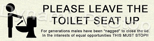30x8cm Toilet Seat Door Decal or Tin Sign
