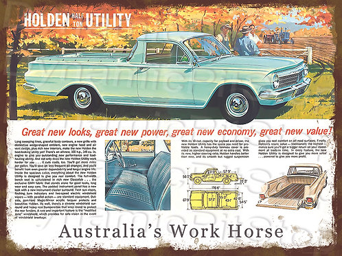 40x30cm EH Holden Ute Rustic Decal or Tin Sign