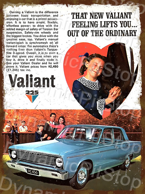 30x40cm Valiant 1966 VC Rustic Decal or Tin Sign