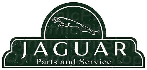 65x30cm Jaguar Parts & Service Shield Tin Sign