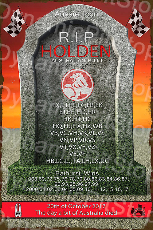40x60cm Holden RIP Bathurst Rustic Decal or Tin Sign