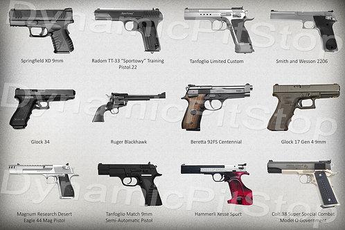 60x40cm Multiple Guns Decal or Tin Sign