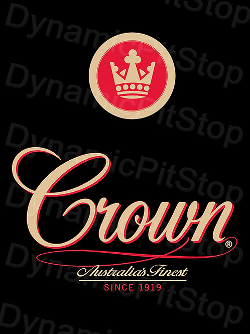 30x40cm Crown Lager Rustic Decal or Tin Sign