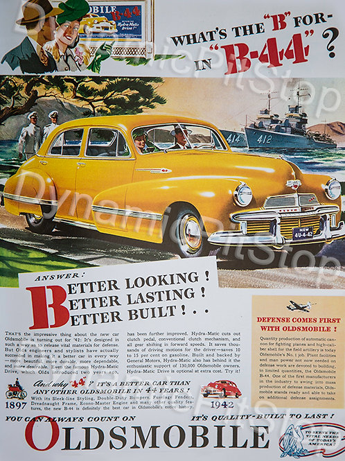 30x40cm Oldsmobile B-44 Vintage Ad Decal or Tin Sign