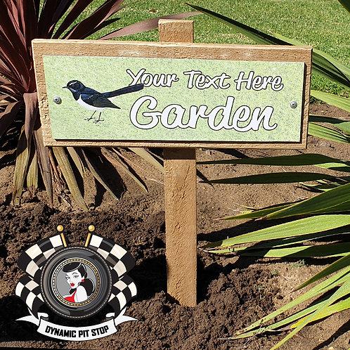 Custom Garden Sign - Bird
