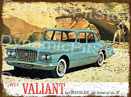 40x30cm Valiant 1962 RV1 Rustic Decal or Tin Sign