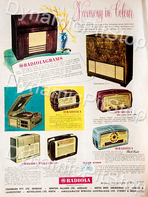 30x40cm Radiolagrams Decal or Tin Sign