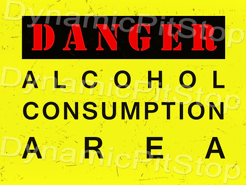 40x30cm Alcohol Consumption Area Rustic Decal or Tin Sign