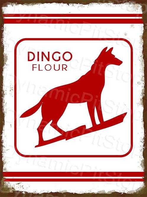 30x40cm Dingo Flour Rustic Decal or Tin Sign