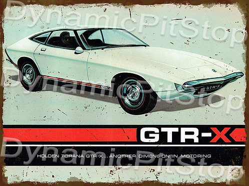 40x30cm Holden 1970 GTRX Torana Rustic Decal or Tin Sign