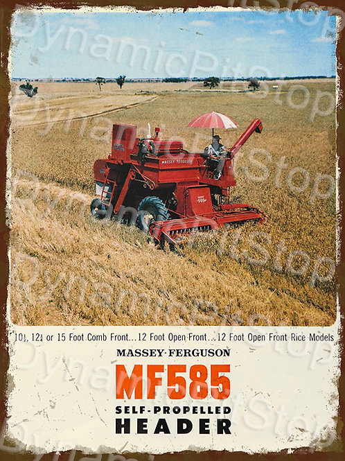 30x40cm Massey Ferguson MF585 SP Tractor Rustic Decal or Tin Sign