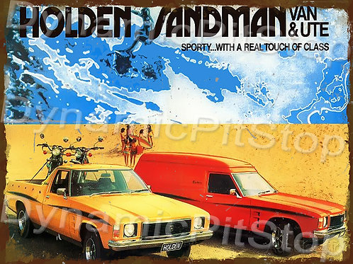 40x30cm Holden Sandman Van & Ute Rustic Decal or Tin Sign