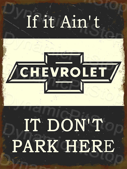 30x40cm Chevrolet Parking Only Rustic Decal or Tin Sign
