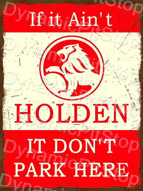 30x40cm Holden Parking Only Rustic Decal or Tin Sign