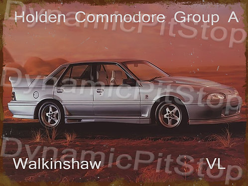40x30cm Holden VL Commodore Walkinshaw Rustic Decal or Tin Sign