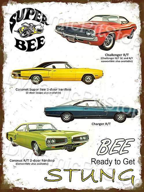 30x40cm Dodge Super Bee Cars Rustic Decal or Tin Sign