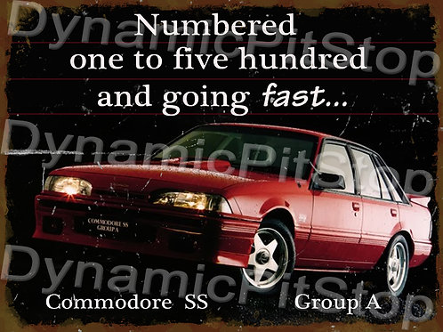 40x30cm Holden VL Commodore SS Rustic Decal or Tin Sign