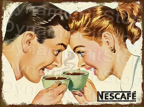 40x30cm Nescafe Coffee Rustic Decal or Tin Sign