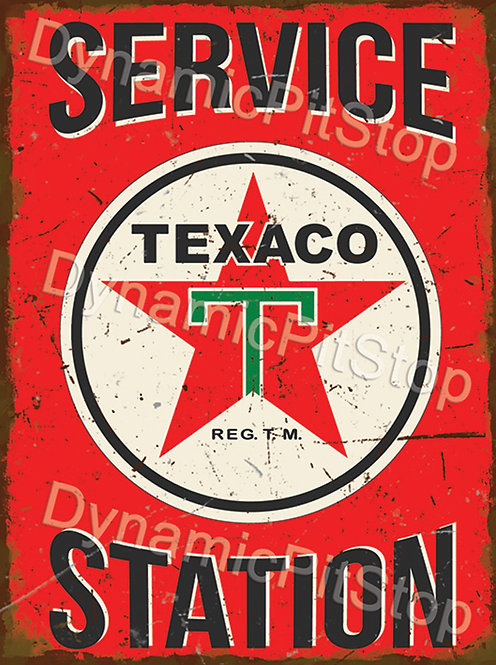 30x40cm Texaco Service Station Rustic Decal or Tin Sign