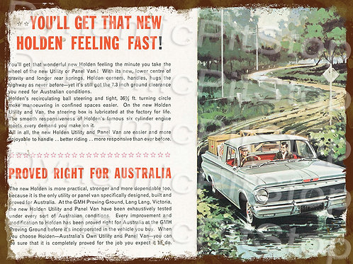 40x30cm Holden EJ Ute Rustic Decal or Tin Sign