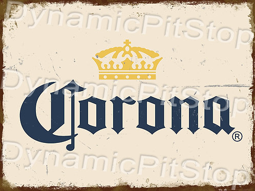 40x30cm Corona Rustic Decal or Tin Sign