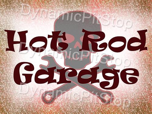 40x30cm Hot Rod Garage Skull Decal or Tin Sign