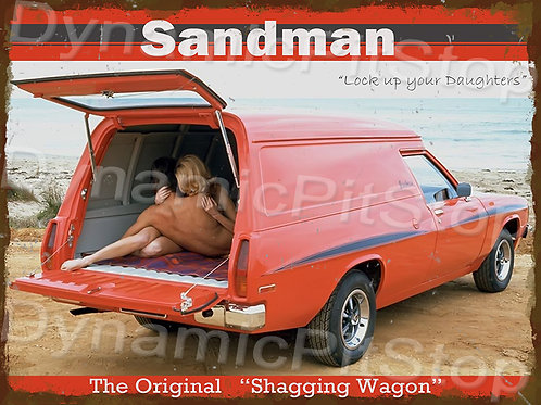 40x30cm Holden Sandman Shag Wagon Rustic Decal or Tin Sign