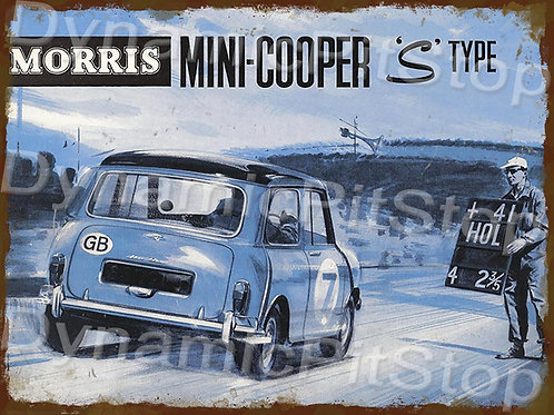 40x30cm MINI Cooper Morris S Type Rustic Decal or Tin Sign
