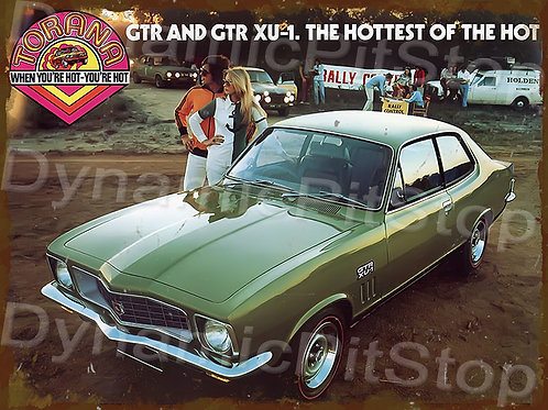 40x30cm Holden GTR Hottest Torana  Rustic Decal or Tin Sign