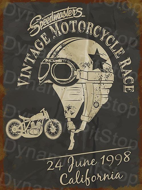 30x40cm Speedmasters Vintage Motorcycle Rustic Decal or Tin Sign