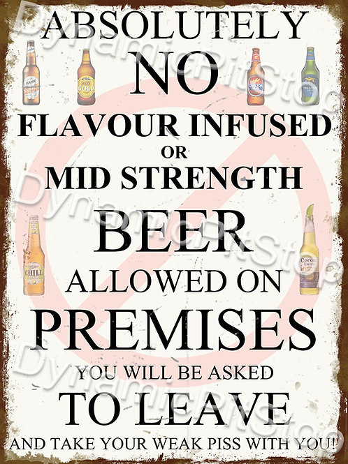 30x40cm Possess Alcohol Decal or Tin Sign