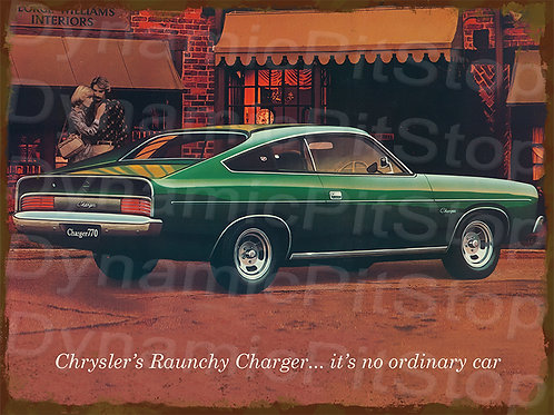40x30cm 1977 CL Charger 770 Rustic Decal or Tin Sign