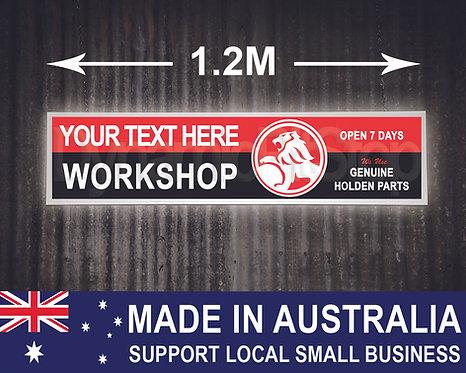 Large Illuminated Holden Custom Workshop Sign
