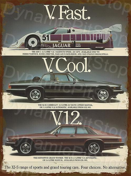 30x40cm Jaguar V12 Rustic Decal or Tin Sign