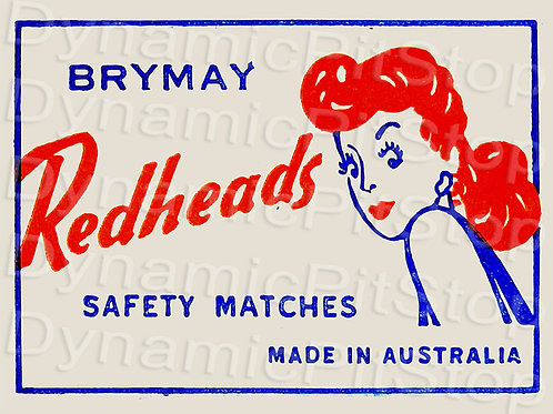 40x30cm Redheads Matches Decal or Tin Sign