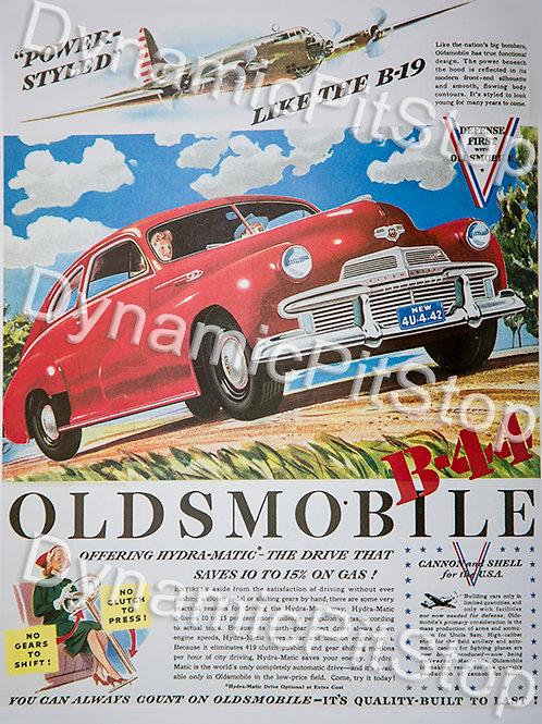 30x40cm Oldsmobile Vintage Ad Decal or Tin Sign